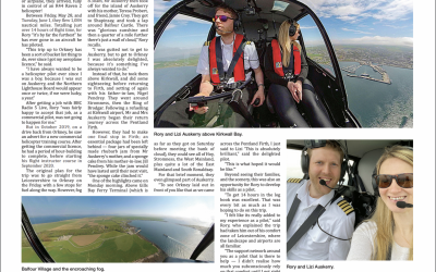 Orkney flight makes the local newspaper